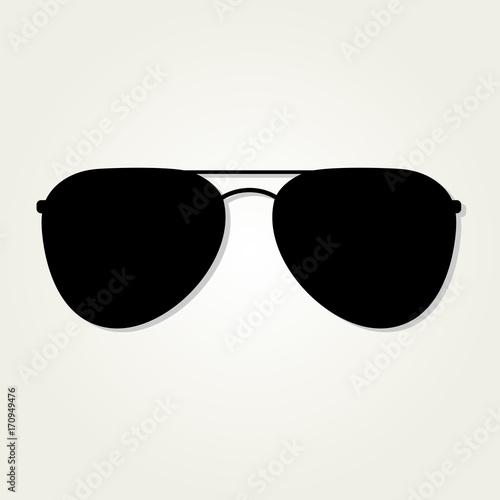 Fotografiet Aviator Sunglasses icon isolated on white background.