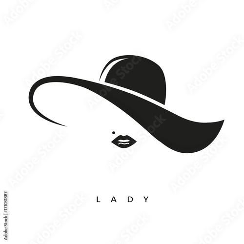 lady mit hut Fototapeta