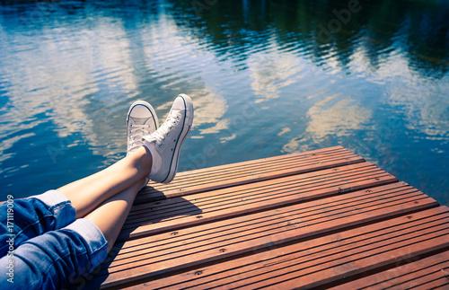Photo Peaceful  summer holiday