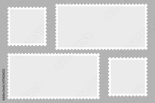 Canvas-taulu Blank Postage Stamps