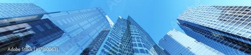Beautiful panorama of skyscrapers, 3D rendering