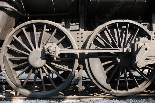 Photo Steam engine wheels