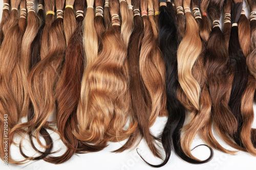 Valokuvatapetti Hair extension equipment of natural hair