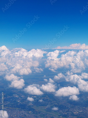 Cloud seen from an airplane