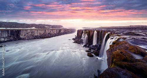 Famous Selfoss waterfall