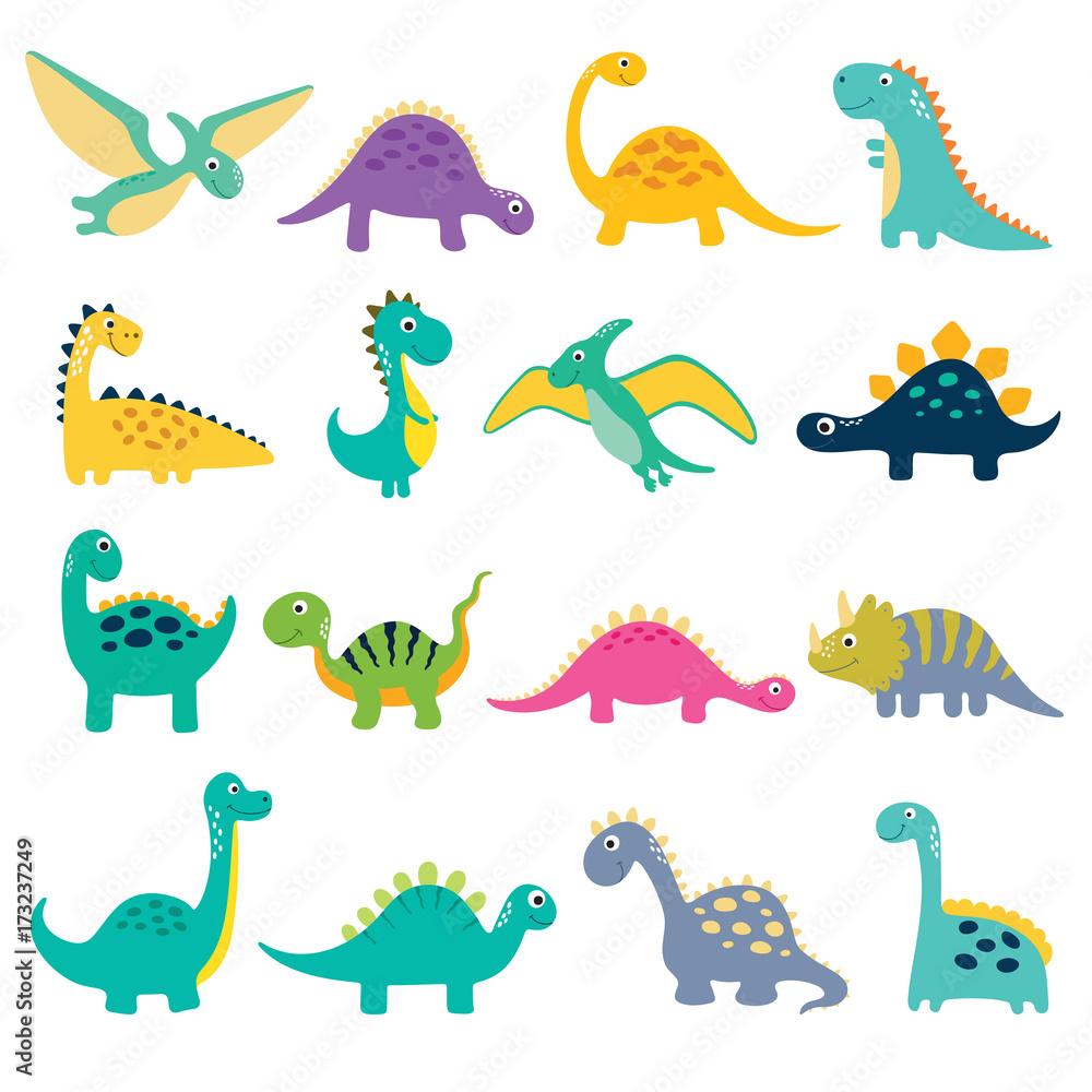 Cute Dino ilustracji <span>plik: #173237249   autor: ARNICA</span>