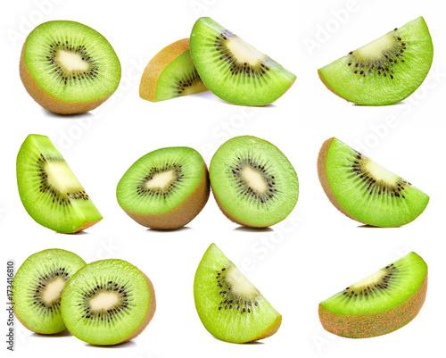 Obraz na płótnie kiwi fruit isolated on white background