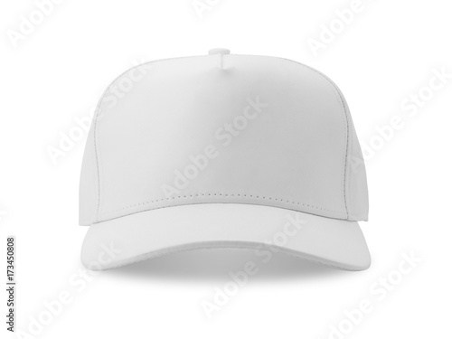 Obraz na plátně White baseball cap isolated on white background.