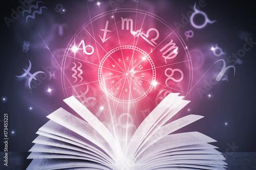 Canvas Print astrology horoscope book