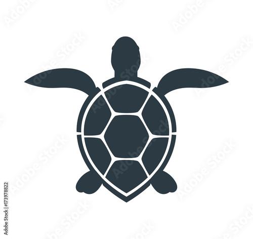 Fototapeta premium Ikona żółwia morskiego.