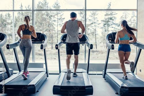 Fotografia Sports people in gym