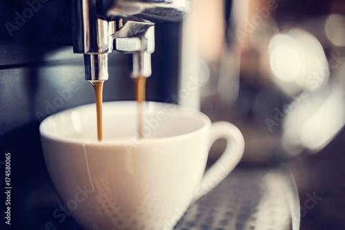 Wallpaper Mural Espresso machine making fresh coffee