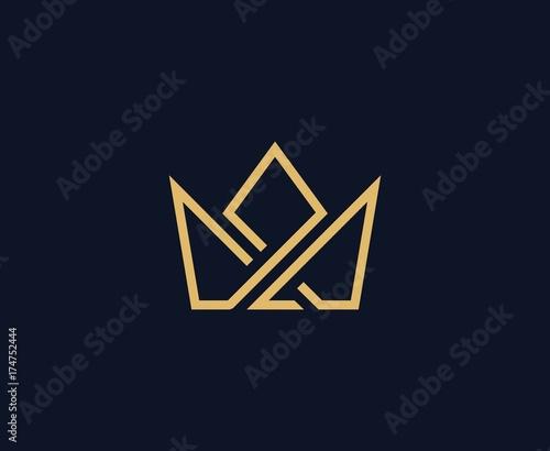 Obraz na płótnie Crown logo