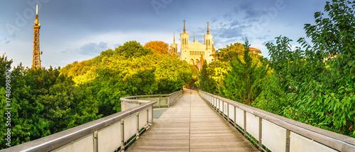 Fotografia Notre Dame de Fourviere in Lyon, France