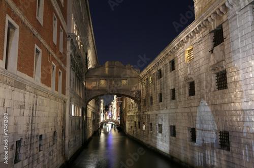 VENICE of Sighs at night using long exposure