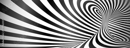 Black and white twisted lines horizontal background
