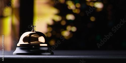 Fototapeta Reception bell golden
