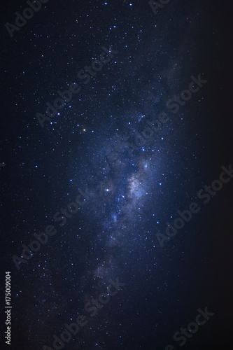 Starry night sky, milky way galaxy with stars and space dust in the universe