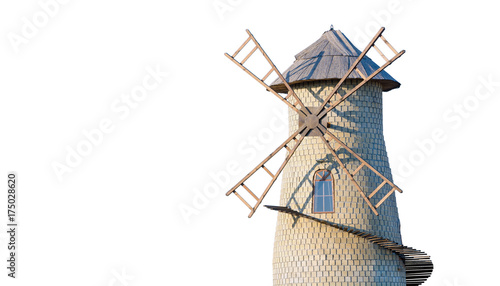 Isolated Old windmill