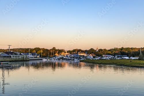 фотография village of Essex in New England in sunrise