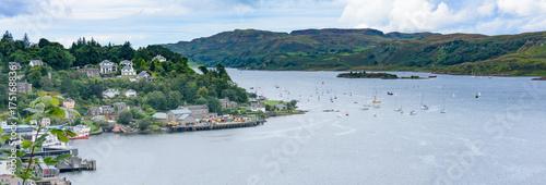 Obraz na plátně Oban Bay from McCaig's Tower in Oban, Scotland