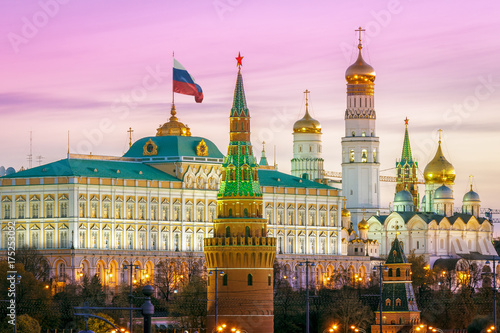 Obraz na plátně Domes of the Moscow Kremlin