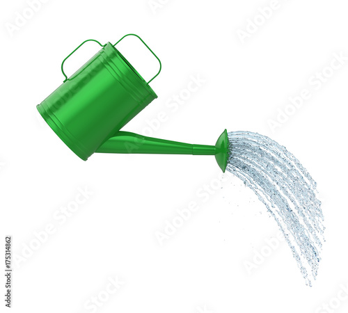 Photo Watering Can Pouring Water Isolated