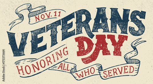 Tableau sur Toile Veterans day, Honoring all who served