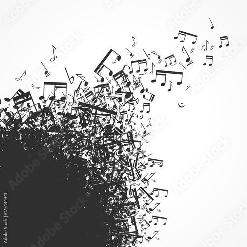 musique Fotobehang