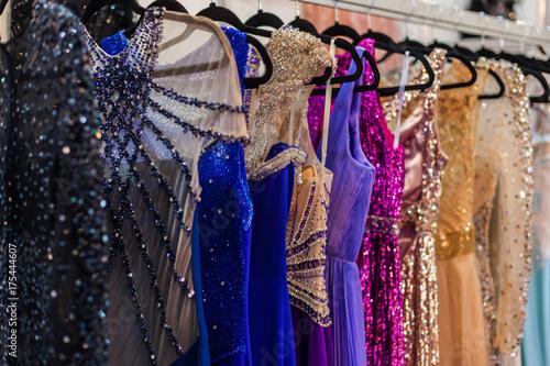 Valokuvatapetti Bright evening dresses