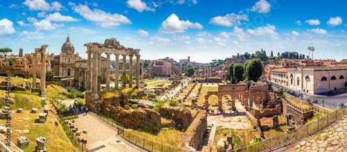 Fényképezés Ancient ruins of Forum in Rome