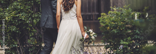 Fotografia, Obraz wedding, bride and groom together
