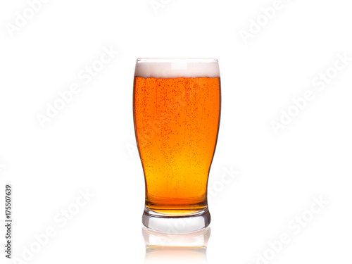 Fotografie, Obraz Beer on white background, horizontal