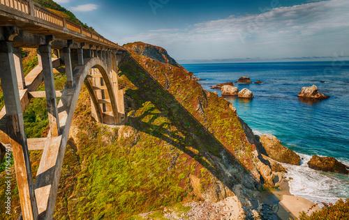 Beautiful view of Bixby Bridge in Big Sur, California