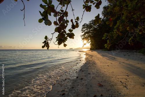 beautiful sunrise in Batanta island, raja ampat archipelago
