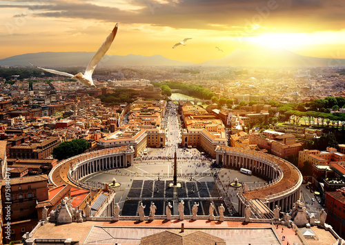Panoramic view of Vatican
