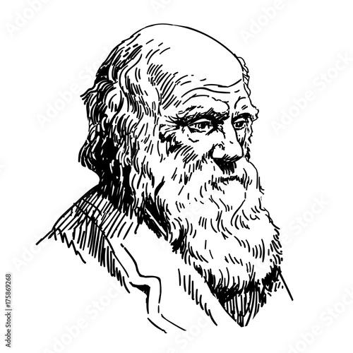 Charles Robert Darwin Fototapet