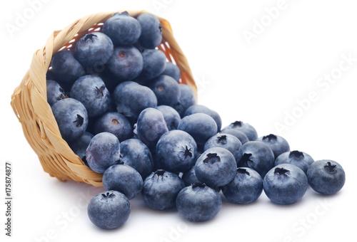 Leinwand Poster Group of fresh blueberries