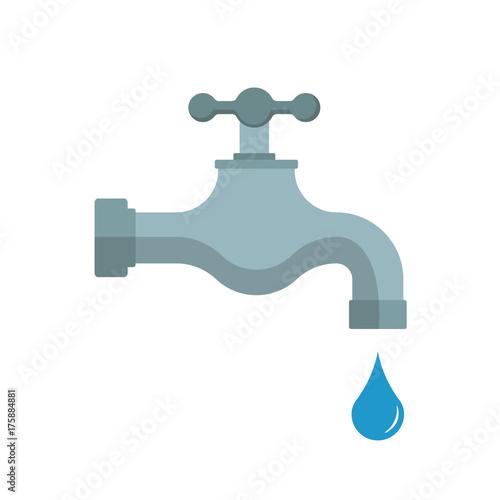 Obraz na plátně Water tap. Vector illustration. Isolated.