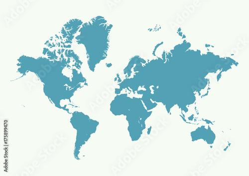 High Detail World map