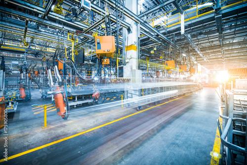 Fotografie, Tablou robots welding in a car factory