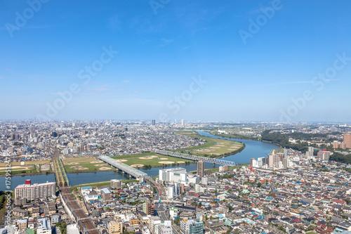 Fototapeta premium Edogawa-ku Katsushika-ku Ichikawa dekoracje miasta