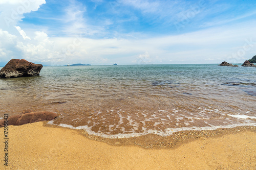 sand beach and wave seascape view