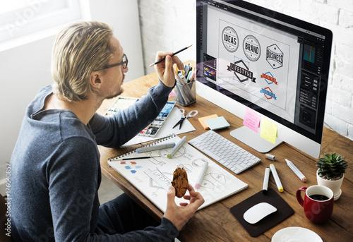 Logo Design Business House Concept Tapéta, Fotótapéta