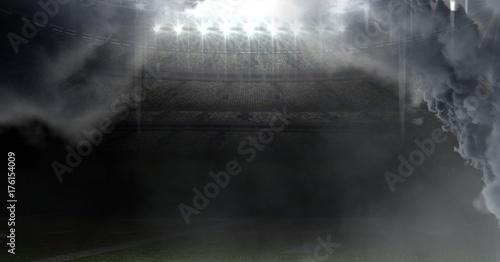 Fototapeta premium stadion futbolu amerykańskiego z chmurami