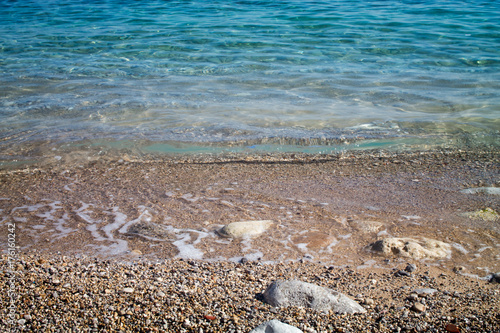 Waves on the shore of the sea