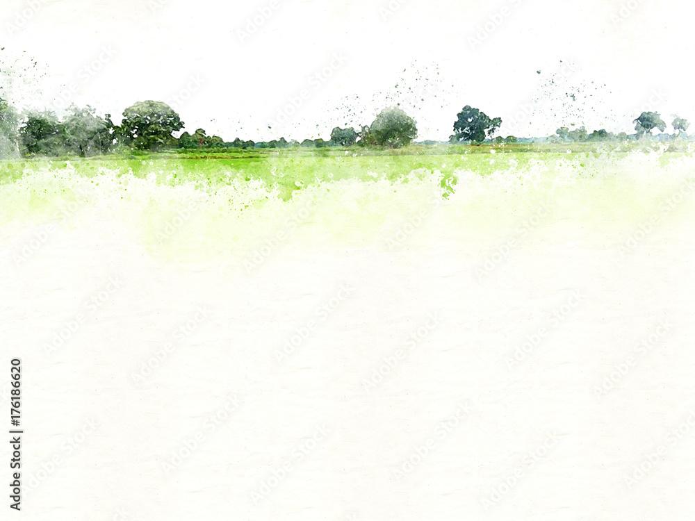 Abstrakcjonistyczny Kolorowy drzewa i krajobrazu drzewo na akwarela obrazu tle. <span>plik: #176186620   autor: Watercolor_Concept</span>