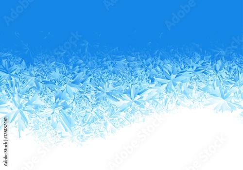 Obraz na plátně Winter blue ice frost background