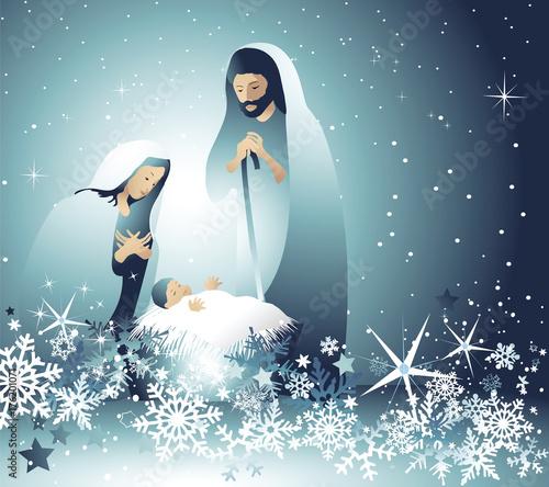 Photo Nativity scene with Holy Family