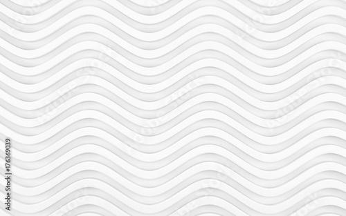Fototapeta premium Białe tło faliste tekstury. Dekoracja ścian wewnętrznych. Renderowania 3d